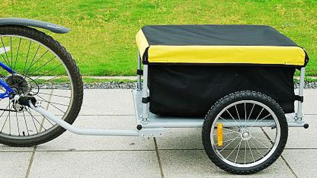 Aosom Elite Bike Cargo Luggage Trailer