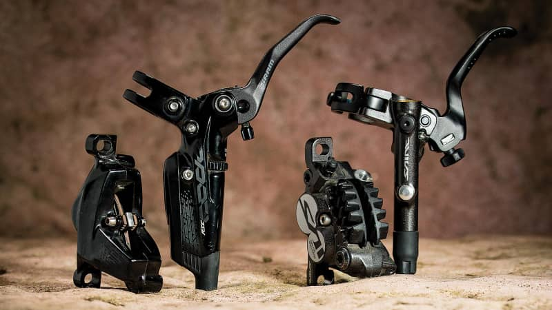 SRAM and Shimano component levels