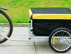 Aosom Elite Bike Cargo / Luggage Trailer w/ Removable Cover – Black/Yellow