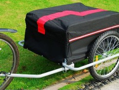 Aosom Elite II Bike Cargo / Luggage Trailer – Red / Black